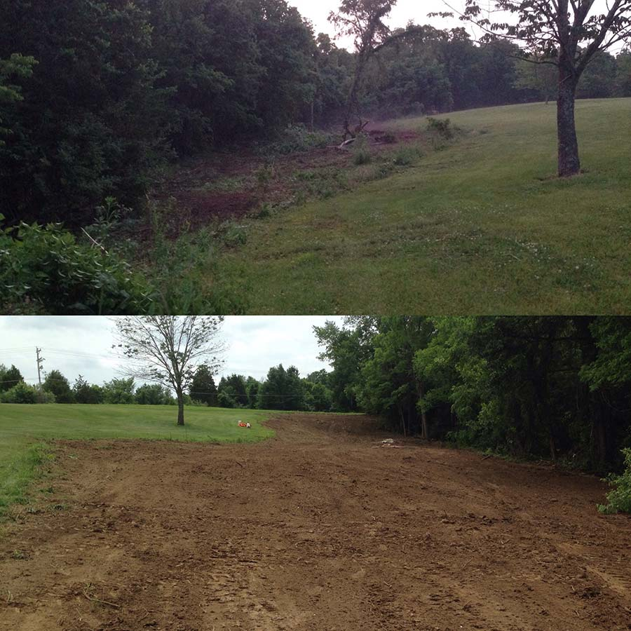 Before and After Excavating