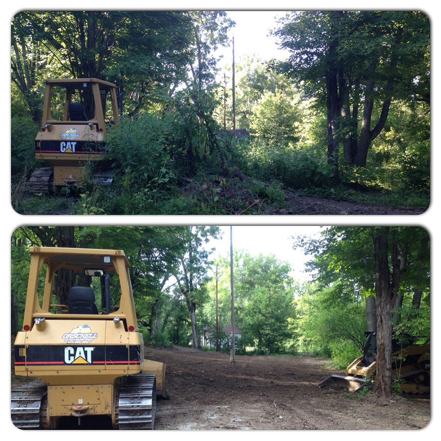 Before and After Excavating Projects