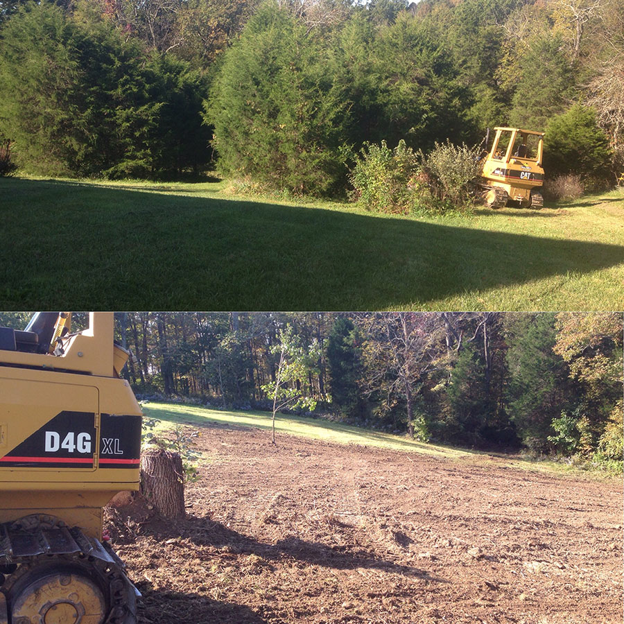 Land Clearing Before and After Excavating Services